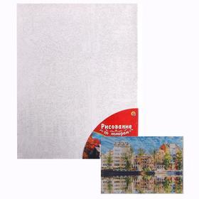 Картина по номерам 40×50 см в плёнке «Отражение домов в водной глади»