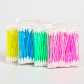 Ватные палочки, пакет 50 шт., пластик, цвет МИКС Ош