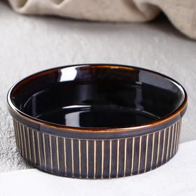 """Форма для выпечки """"Классика"""", коричневая, 0.6 л, керамика"""