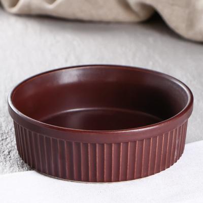 """Форма для выпечки """"Классика"""", терракотовый цвет, 0.6 л, керамика - Фото 1"""