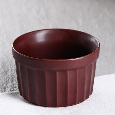 """Форма для выпечки """"Рамекин"""", терракотовая, керамика, 0.2 л - Фото 1"""