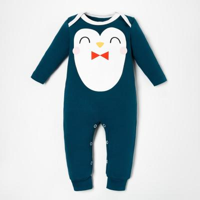 "Комбинезон Крошка Я ""Пингвин"", рост 62-68 см, синий - Фото 1"