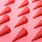 Вафельные рожки с ровным краем красный (Н-110, Д-48), 225 шт