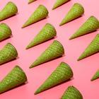 Вафельные рожки с ровным краем зеленый  (Н-110, Д-48), 225 шт
