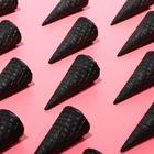 Вафельные рожки с ровным краем черный  (Н-110, Д-48), 225 шт