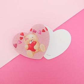 Открытка-валентинка «Мишка», 7 х 6см