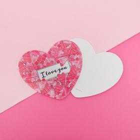 Открытка-валентинка «I LOVE YOU», 7 х 6см