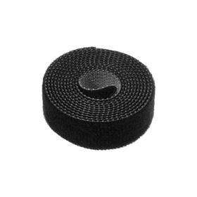 Лента-липучка для стяжки проводов, 1 шт, 100*1,5 см, черная Ош