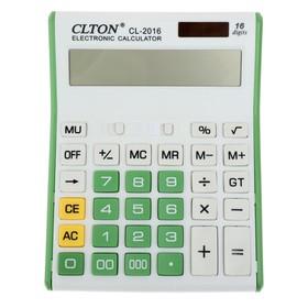 Калькулятор настольный, 16-разрядный, CL-2016, двойное питание