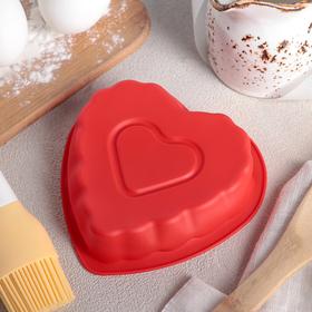 Форма для выпечки 12 см 'Сердце в сердце', цвет МИКС Ош
