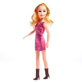 Кукла ростовая 'Лера' в платье, звук, высота 42 см, МИКС Ош