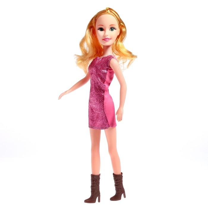 Кукла ростовая Лера в платье, звук, высота 42 см, МИКС
