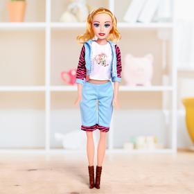 Кукла ростовая 'Лера' звук, в костюме,высота 53 см, МИКС Ош