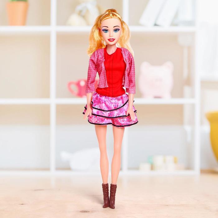 Кукла ростовая Лера звук, в платье, высота 53 см