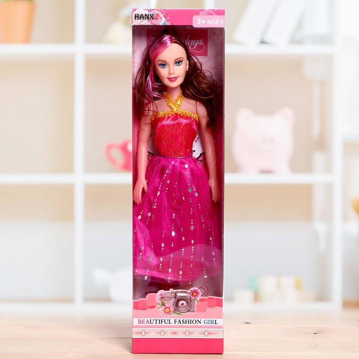 Кукла ростовая Лида в платье, высота 41 см