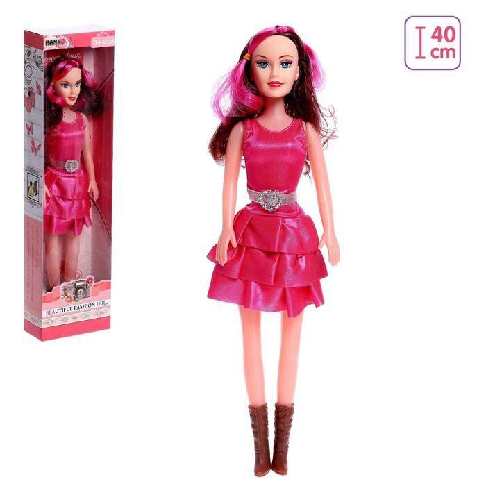 Кукла ростовая Жанна в платье, высота 40 см