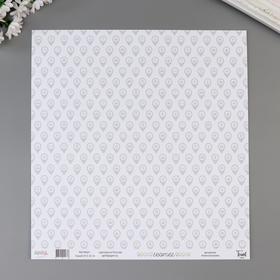 "Бумага для скрапбукинга ""Геотег"" 30,5х30,5 см, 190 гр/м2"