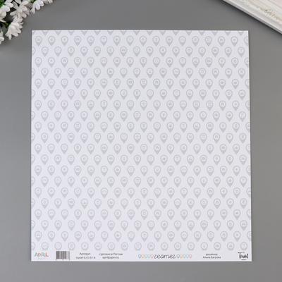 """Бумага для скрапбукинга """"Геотег"""" 30,5х30,5 см, 190 гр/м2 - Фото 1"""