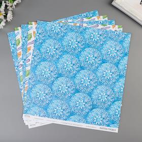 """Бумага для скрапбукинга """"Магические кристаллы"""" 30,5х30,5 см, 190 гр/м2"""