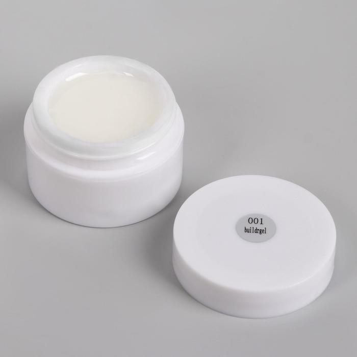 Fiber Gel для наращивания ногтей, 15 гр, цвет белый