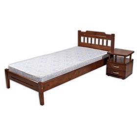Кровать «Мария 1», 1200 × 2000 мм и тумба прикроватная №2, массив сосны, цвет дуб Ош