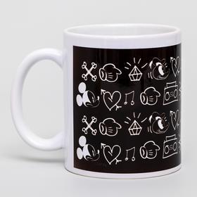 Кружка сублимация Black, Микки Маус, 350 мл