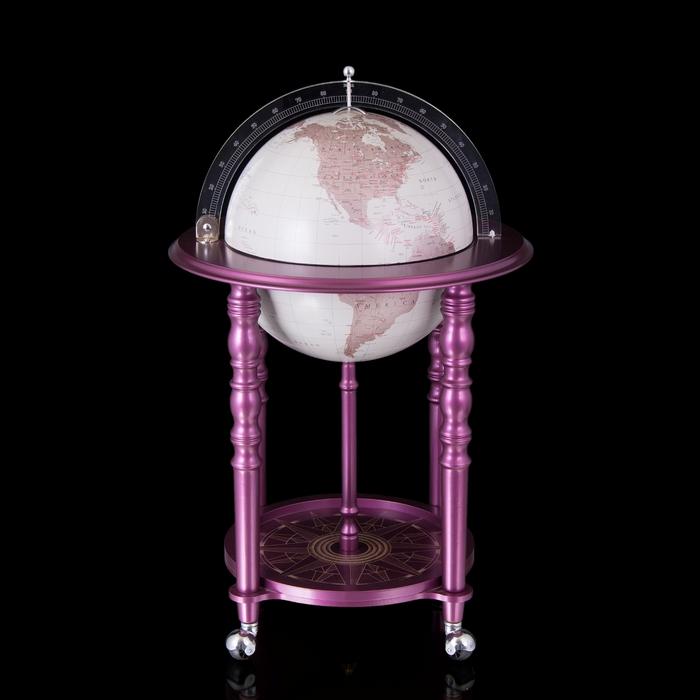 Глобус-бар Васко Да Гама, сиреневый, d 40 см