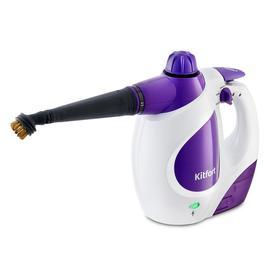 Пароочиститель Kitfort КТ-976, 1200 Вт, 0.3 л, 30 г/мин, нагрев 4 мин, бело-фиолетовый Ош