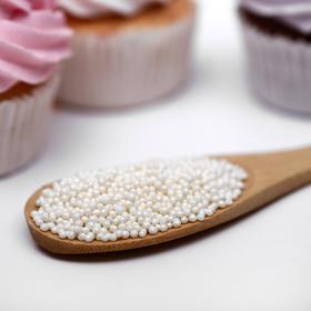 Драже сахарное «Бисер цветной», серебро, 50 г