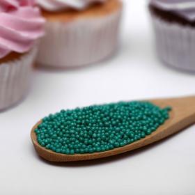 Драже сахарное «Бисер цветной», изумруд, 50 г