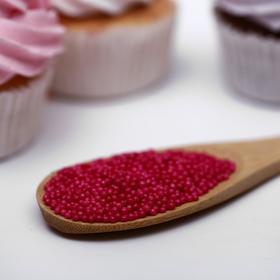 Драже сахарное «Бисер цветной», малиновый, 50 г