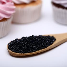 Драже сахарное «Бисер цветной», чёрный, 50 г