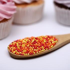 Драже сахарное «Бисер цветной» оранжевый, жёлтый, красный, 50 г