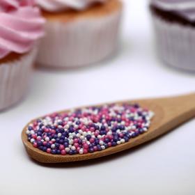 Драже сахарное «Бисер цветной» розовый, сиреневый, серебро, 50 г