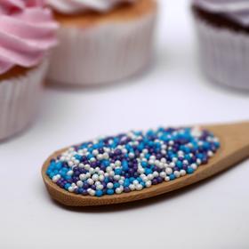 Драже сахарное «Бисер цветной» сиреневый, голубой, серебро, 50 г