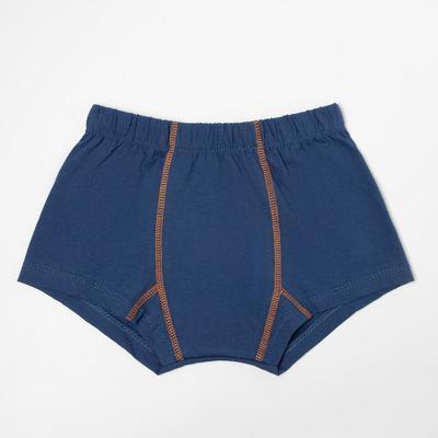 Трусы-боксеры для мальчика, цвет джинс, рост 92 см - Фото 1