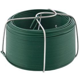 Проволока 'Сибртех' с ПВХ покрытием, цвет зеленый, 0,9 мм, длина 50 м. Ош
