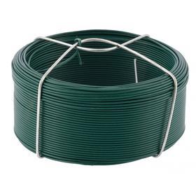 Проволока 'Сибртех' с ПВХ покрытием, цвет зеленый, 1,2 мм, длина 50 м. Ош
