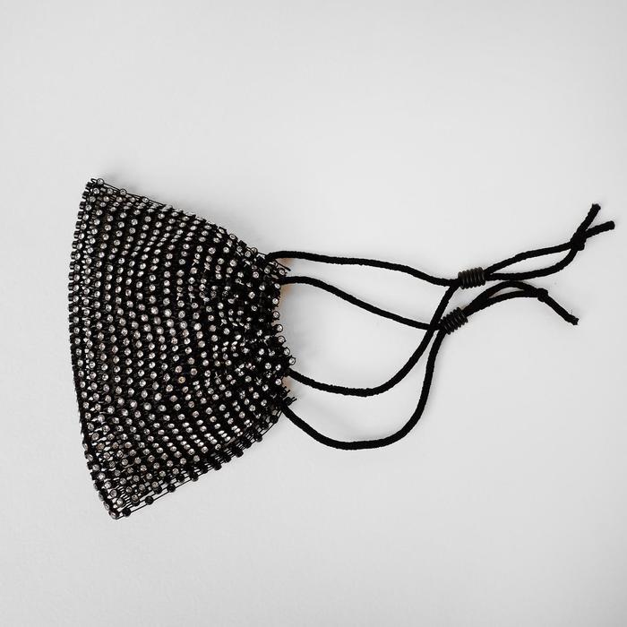 Маска декоративная, полупрозрачная, цвет белый в чёрном