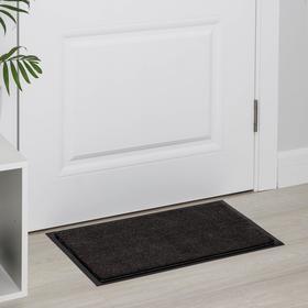 Коврик придверный влаговпитывающий, тафтинговый меланжированный «Комфорт», 40×60 см, цвет коричневый