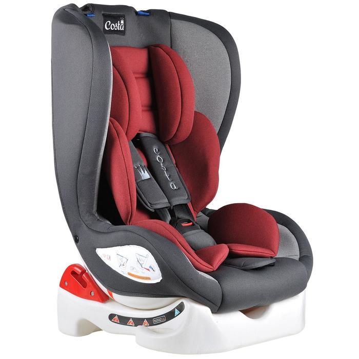 Автокресло CS-001, цвет красный/тёмно-серый, возраст от 0 до 4 лет