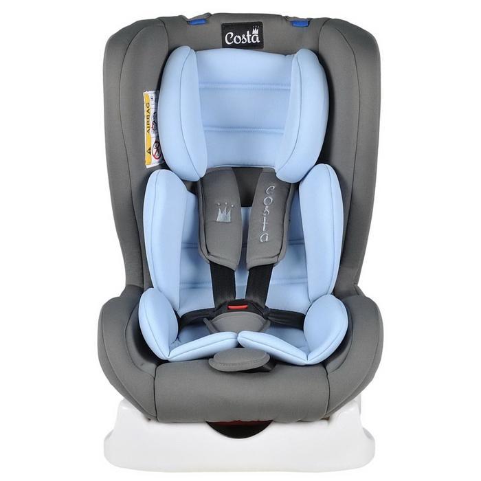 Автокресло CS-001, цвет голубой/серый, возраст от 0 до 4 лет