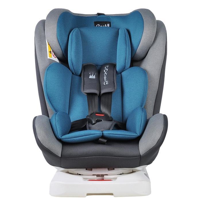 Автокресло CS-002 ISOFIX, цвет синий/серый, возраст от 0 до 12 лет