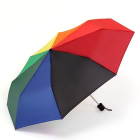 Зонт механический «Радуга», 3 сложения, 8 спиц, R = 48 см, разноцветный Ош