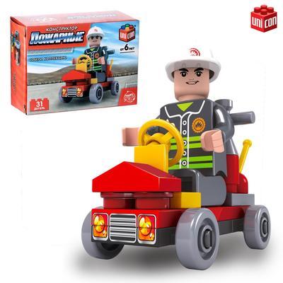 Конструктор Пожарные «Пожарная бригада», 31 деталь - Фото 1