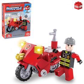 Конструктор Пожарные «Пожарный байк», 26 деталей Ош