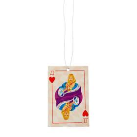 Ароматизатор подвесной картонный 'Freshco Игральные карты Дама Червей' Тутти-фрутти Ош