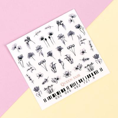 Слайдер-дизайн для ногтей «Flower» - Фото 1