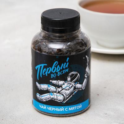 Чай чёрный «Первый во всем»: с мятой, 50 г.