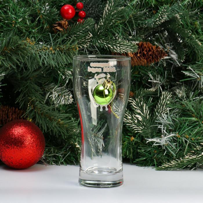 """Бокал """"Новый год"""", шар, для пива, МИКС"""